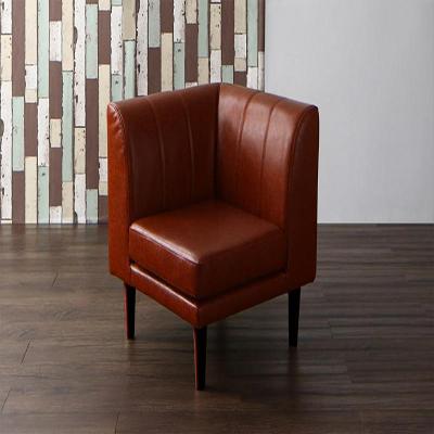 送料無料 ダイニングソファ単品 コーナータイプ 高さ調節できる リビングダイニング Norld ノールド ダイニングソファ 食卓椅子 ソファー ポケットコイル 合成皮革 キャメルブラウン ダークブラウン 500029201