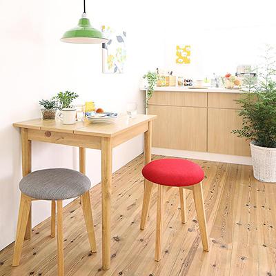 送料無料 ダイニングセット 3点セット(テーブル W68 ナチュラル +スツール2脚) 1Kでも置ける横幅68cmコンパクトダイニングセット idea イデア 木製 食卓 角型 アイボリー ブラウン ライトグレー ブルー レッド 500029624