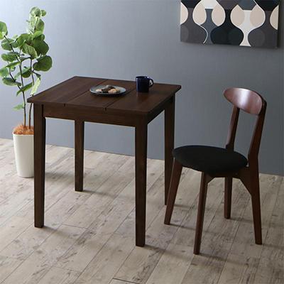 送料無料 ダイニングテーブルセット 2点セット(テーブル ブラウン W68+チェア1脚) 北欧 ダイニング Lucks ルクス 木製 食卓 1人掛け ダークグレー グリーン 500029641
