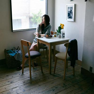 送料無料 ダイニング テーブル セット (ダイニングテーブル ホワイト×ナチュラル 幅68 + チェア 3脚) 4点セット スクエアサイズのコンパクトダイニングテーブルセット FAIRBANX フェアバンクス 天然木 木製 食卓テーブル 3人掛け アイボリー ライトグレー ブラウン