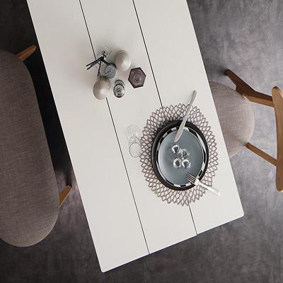 送料無料 ダイニング テーブルのみ ホワイト×ナチュラル 幅115 奥行き68 高さ72cm モダン Worth ワース ダイニングテーブル 天然木 木製 角型 食卓テーブル モダン 北欧 おしゃれ 500029716