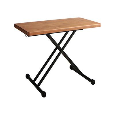 送料無料 リビングダイニングテーブルのみ 幅120 奥行き60 高さ25cm~72cm 高さ調節できるリビングダイニング LOWDOR ローダー リフティング 昇降テーブル 木製 角型 食卓テーブル リビングテーブル 天然木 無垢材 ナチュラル 500030137