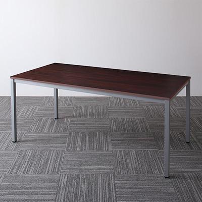 送料無料 オフィスデスク テーブルのみ 幅180 奥行き90 高さ70cm Sylvio シルビオ オフィステーブル おしゃれ 120 W120 木製 スチール脚 平机 ダークブラウン ホワイト ナチュラル 500033526