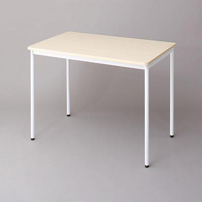 送料無料 オフィスワークテーブルのみ 幅140 奥行き70 高さ70cm 多目的オフィスワークテーブル ISSUERE イシューレ オフィステーブル 木製 スチール脚 平机 ダークブラウン ホワイト ナチュラル 500033536