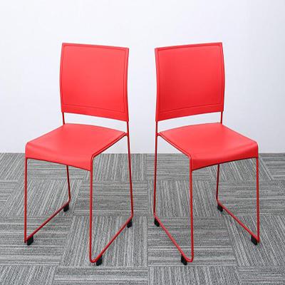 送料無料 スタッキングチェアー 2脚組 ISSUERE イシューレ 2脚セット オフィスチェア スタッキングチェア パソコンチェア 椅子 イス いす スチール ブラック レッド ホワイト グリーン 500033540