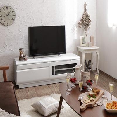 送料無料 完成品シンプルデザインテレビボード WHITV ホワイティヴィ 幅120 500033664