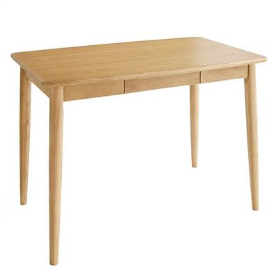 送料無料 天板の丸みは小さなお子様がいらっしゃるご家庭でも 安心安全です テーブル ダイニングテーブル 木製テーブル 食卓テーブル 天然木タモ無垢材ダイニング -ユニカ/テーブル単品(幅115cm)- リビングダイニング ナチュラル ブラウン 新生活 敬老の日 040600125