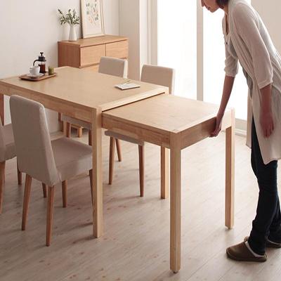 送料無料 テーブル単品 スライド伸縮テーブル 伸長ダイニングテーブル グライド 135cmから最大235cm 4人から8人用 伸長式 伸縮 伸縮式 エクステンションテーブル 食卓テーブル キャスター付き 天然木 木製テーブル ワイド おしゃれ 北欧 かわいい 040600405