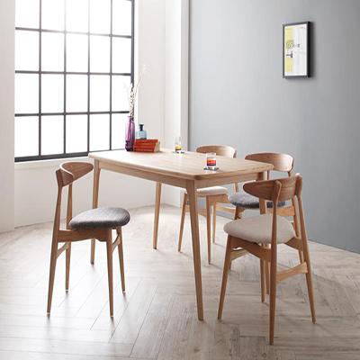 送料無料 ダイニングテーブルセット ダイニングセット 北欧デザイナーズダイニングセット 5点セット(テーブル+チェアA×4) 食卓テーブル 木製 4人【Cornell】コーネル 新生活 敬老の日 040600508