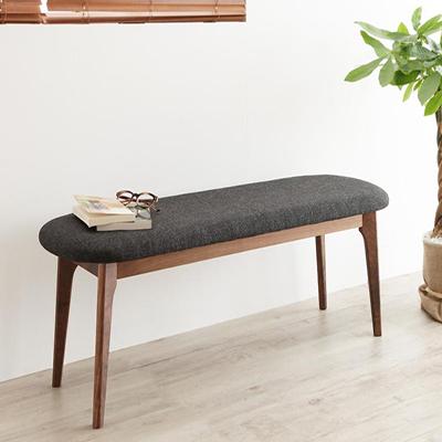 送料無料 ダイニングベンチ単品 天然木ウォールナットエクステンションダイニングベンチ ヌーベル ウォールナット無垢材 木目 木製 椅子 いす イス 食卓椅子 食卓いす 長いす 長椅子 人気 おしゃれ かわいい