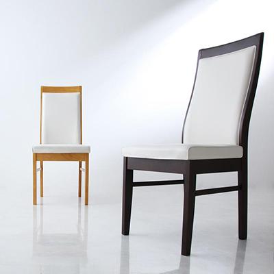 送料無料 ダイニングチェア (2脚組) モダンデザインハイバックチェアダイニング エルサ ハイバックチェア ハイバックチェアー ダイニングチェアー 椅子 イス いす 食卓椅子 合皮 レザー 高級感 おしゃれ 040600979