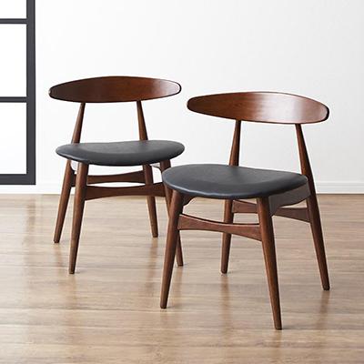 送料無料 ダイニングチェア 2脚組 北欧モダンデザインダイニング エスパシオ ダイニングチェアー チェア チェアー 食卓椅子 椅子 いす イス 天然木 木製 レザー 合皮 木目 高級感 おしゃれ 北欧 040600985