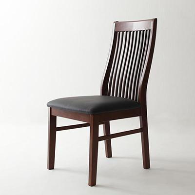 送料無料 ダイニングチェア (2脚組) ハイバックチェア モダンデザインダイニング ビストロ エム チェア チェアー ハイバックチェアー ダイニングチェアー 椅子 イス いす 食卓椅子 木製 合皮 レザー 高級感 おしゃれ 040601068