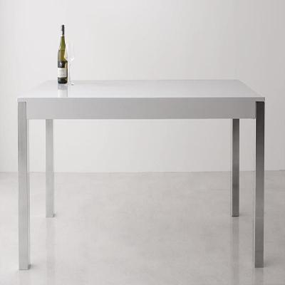送料無料 テーブル 幅160×奥行75cm ダイニングモダンデザインダイニング ジュリエンヌ リビング ダイニングテーブル 食卓テーブル つくえ 作業台 木製 高級感 ウォールナット グロッシーホワイト おしゃれ 040601259