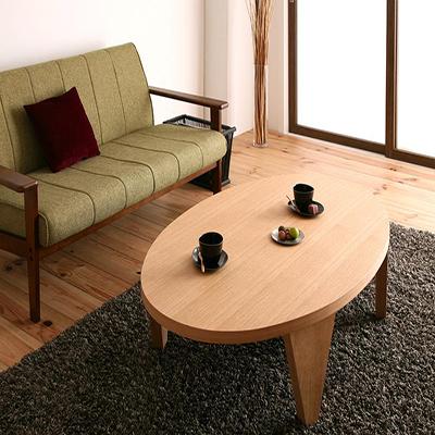 送料無料 折りたたみテーブル だ円形 だ丸型 だ丸テーブル 折れ脚 折り畳み テーブル 天然木和モダンデザイン だ円形折りたたみテーブル -まどか だ円形タイプ(幅150cm)- 和室 洋室 家具通販 新生活 敬老の日 040605137