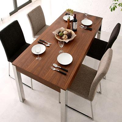 送料無料 テーブルセット ダイニングテーブル5点セット 食卓テーブル ダイニングテーブル テーブル -グラニータ/ダイニングテーブル5点セット (テーブル幅160cm チェア4脚)- スチール脚 モダン 家具通販 新生活 敬老の日 040605141