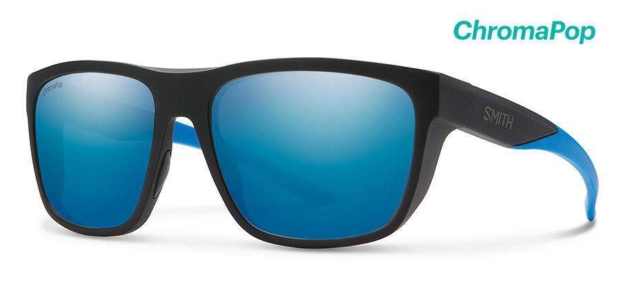 正規品 スミス クロマポップレンズ SMITH スミス サングラス 偏光 クロマポップ Barra New レンズ CP-Polar Blue Mirror フレーム Mate Black Blue
