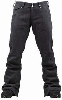 "SHOP WOMENS BURTON バートン 2012-2013モデル スノーボードレディースウェア B by BURTON/ビーバイバートン ""276525 WBB LIZZY PANT/リジー パンツ""185 BLACK INDIGO Mサイズ スノーボード ウェア 12-13"