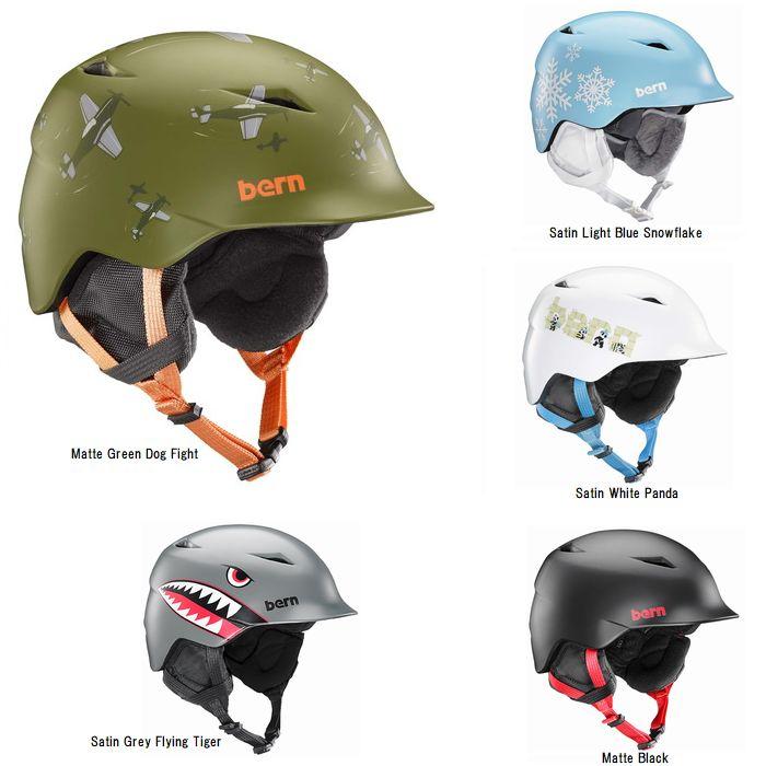 bern バーン キッズ 子供用 ジュニア ヘルメット CAMINO kids スノボ スノーボード ウィンタースポーツ XS-S(2-3歳) S-M(3-6歳)