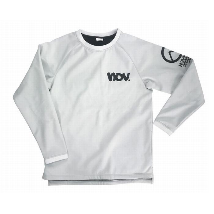 NOVEMBER ノベンバー BONDED SHELL WHT ロングスリーブシャツ 42277