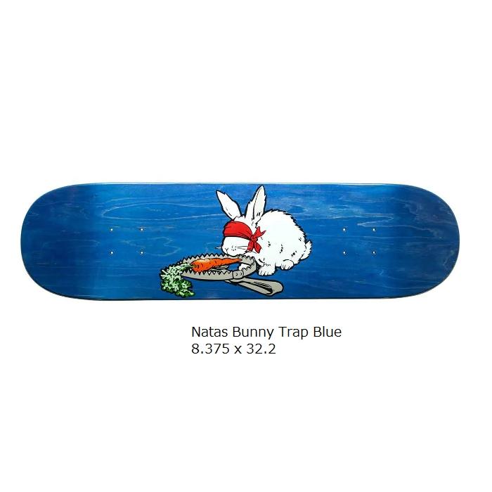 スケボー デッキ 春の新作シューズ満載 信用 スケートボード デッキテープ付き 101 REISSUE Trap 8.375インチ Natas HERITAGE Blue Bunny