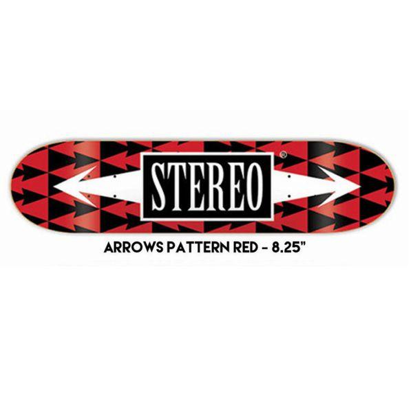 デッキテープ付き STEREO ステレオ TEAM ARROW PATTERN RED 8.25インチ