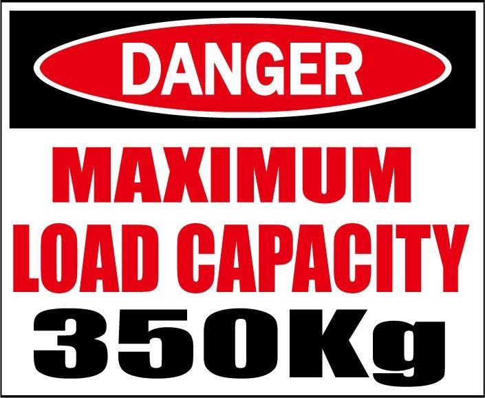 大特価 DANGER 最大積載量350kg C Dステッカー シロウトモータース 4610MOTORS シール デカール DECAL 積載 STICKER 着後レビューで 送料無料 1000 600 積載量 KG 最大 350