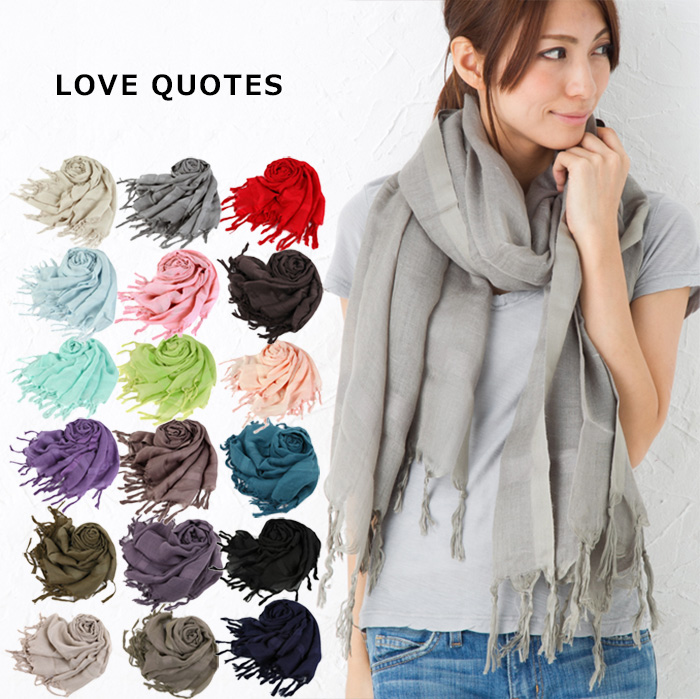 Love Quotes Scarf Stunning Beautyholic  Rakuten Global Market Fashion Can Be Used