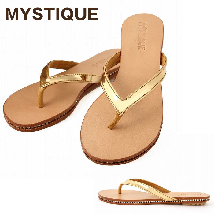 19866a0e92257 BeautyHolic  Mystique and MYSTIQUE Sandals Gold LEATHER SANDAL ...