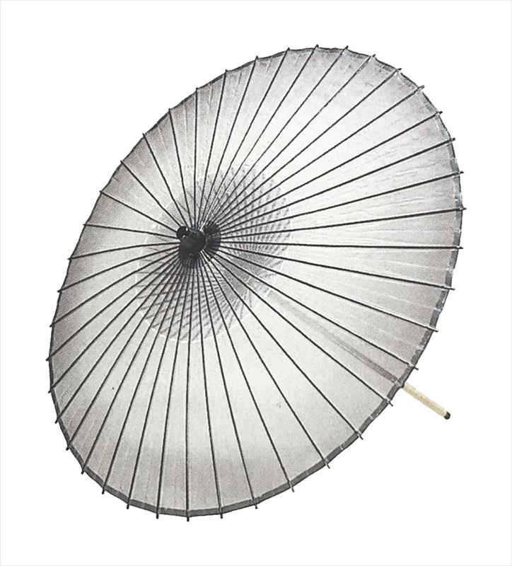 ボカシ(二本継ぎ)黒 絹傘