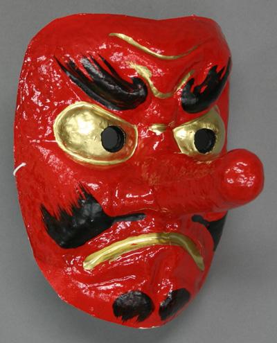 赤天狗【お面】おめんは各地のイベントやお祭、飾り、海外土産にも最適な国産品です