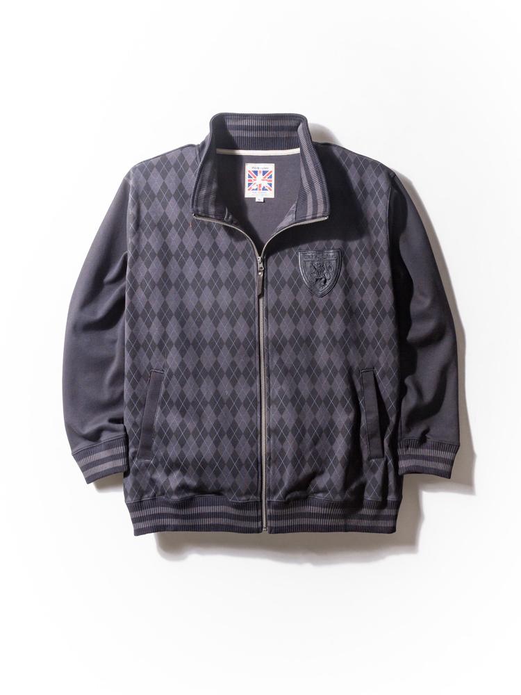 大きいサイズ メンズ 3L 4L 5L OLD KINGDOM(オールドキングダム) ポンチクラッシックトラックジャケット ブラック/プリント 大きいサイズの店 フォーエル