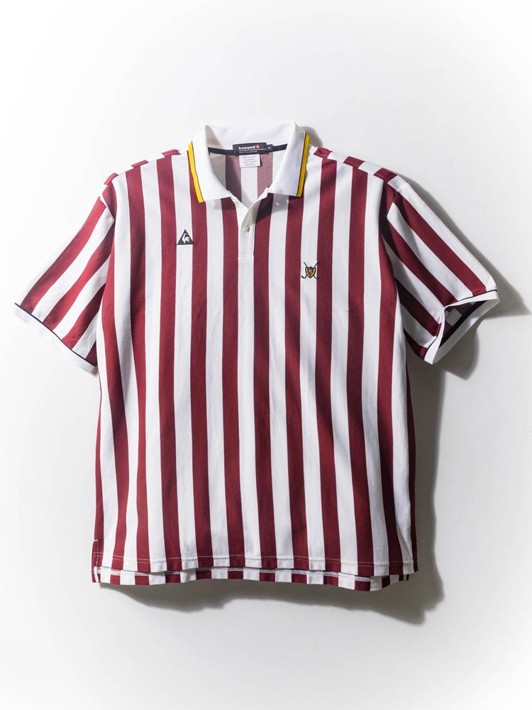 シャツ 大きいサイズ メンズ カジュアルトップス 3L 4L 5L 鹿の子先染めロンドンストライプシャツ レッド メンズ カジュアルトップス le coq sportif 大きいサイズの店 フォーエル