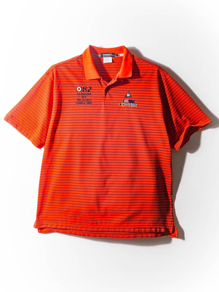 シャツ 大きいサイズ メンズ カジュアルトップス 3L 4L 5L ドライ×鹿の子ボーダーシャツ レッド メンズ カジュアルトップス le coq sportif 大きいサイズの店 フォーエル