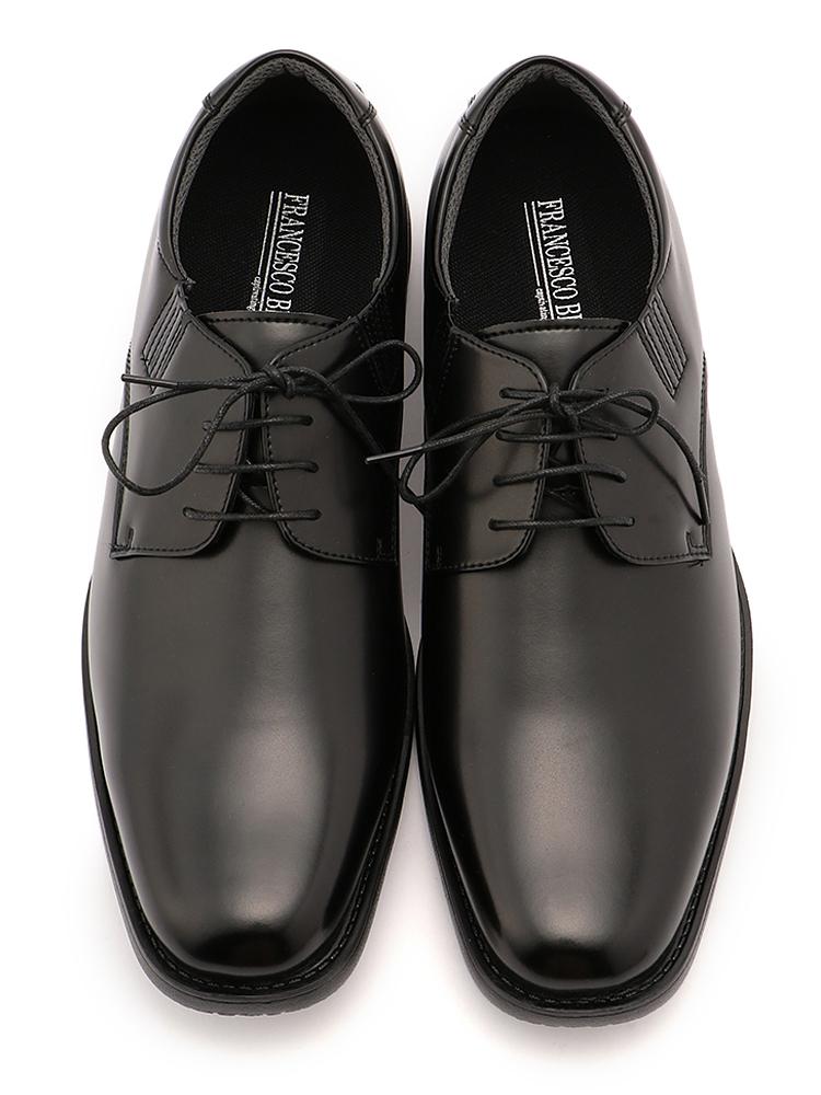 革靴 大きいサイズ メンズ ビジネスシューズ 3L 4L 5L BMZ 外羽根ヒモ プレーン ブラック 大きいサイズの店 フォーエル