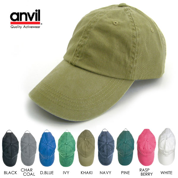 Anvil ソリッドシックス Panel pigmented cotton cap   review outside the campaign    men s women s solid color Cap Hat gender unisex unisex one size fits all ae0b4c705a4