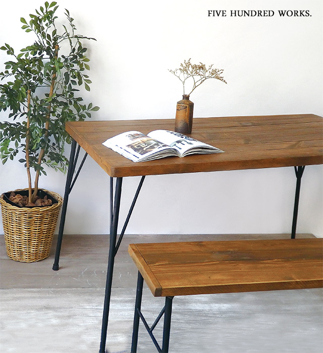 オールドウッドボード120×66(木製家具) 送料無料 500WORKS.ベンチ ディスプレイ台 木製 アンティーク