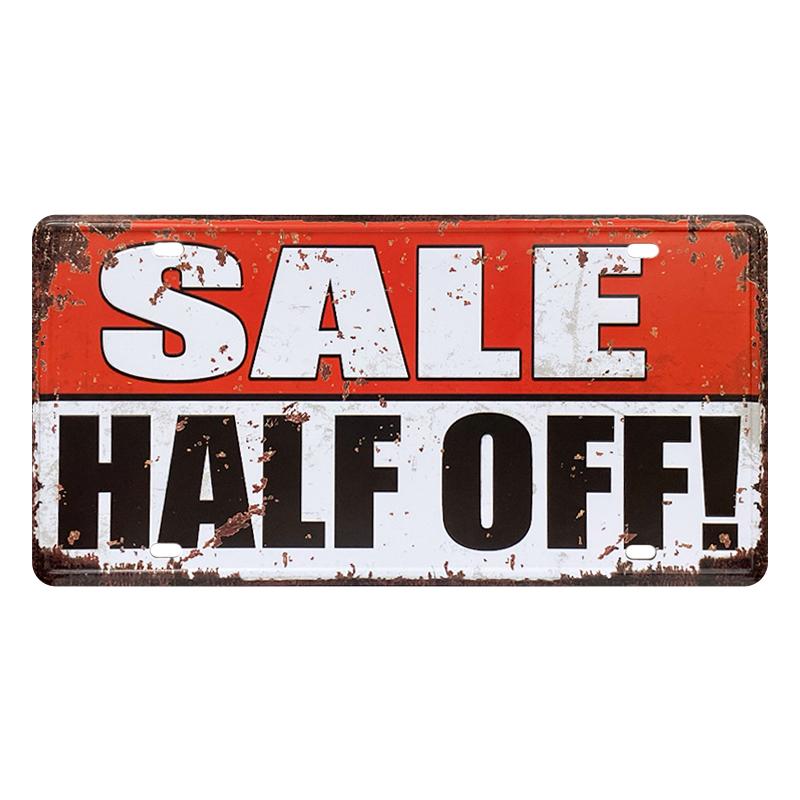 ゆうメール送料無料 訳あり特価品 アメリカンレトロ調 メイルオーダー ライセンスプレート 現金特価 SALE HALF OFF セール中 半額