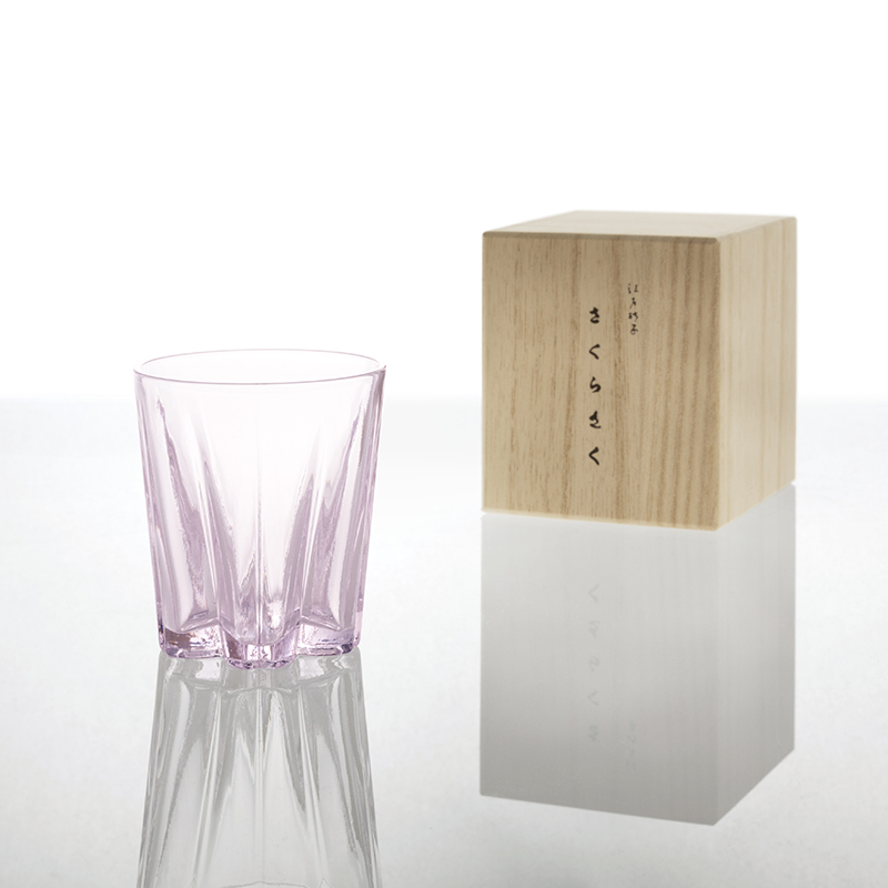 100% SAKURASAKU SAKE transparent / Sakura Saku glass wedding favors celebration giveaway gift moving birthday congratulations new life