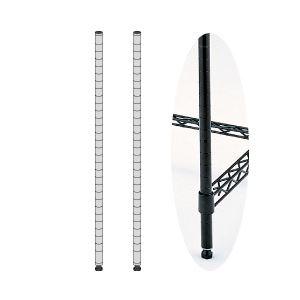 オフィス家具 迅速な対応で商品をお届け致します スチールラック メタルラック エレクター ポスト ブラック H140cm 本物◆