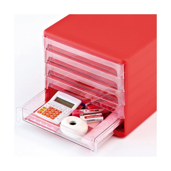 机上整理 収納用品 レターケース まとめ 山田化学 A4タテ SH-L5-CP 商店 ×3セット ピンク 5段 1台 10%OFF