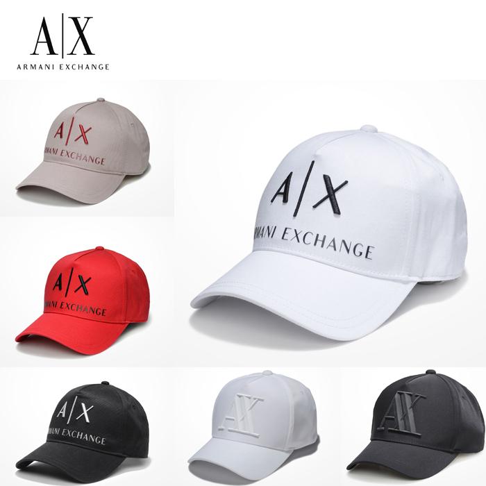 新元号記念(令和)20%OFFクーポン 4/10までアメリカ正規入荷【A/X】アルマーニ・エクスチェンジ・ユニセックスARMANI EXCHANGE 正規キャップ ハット 帽子ax472 ホワイト ブラック