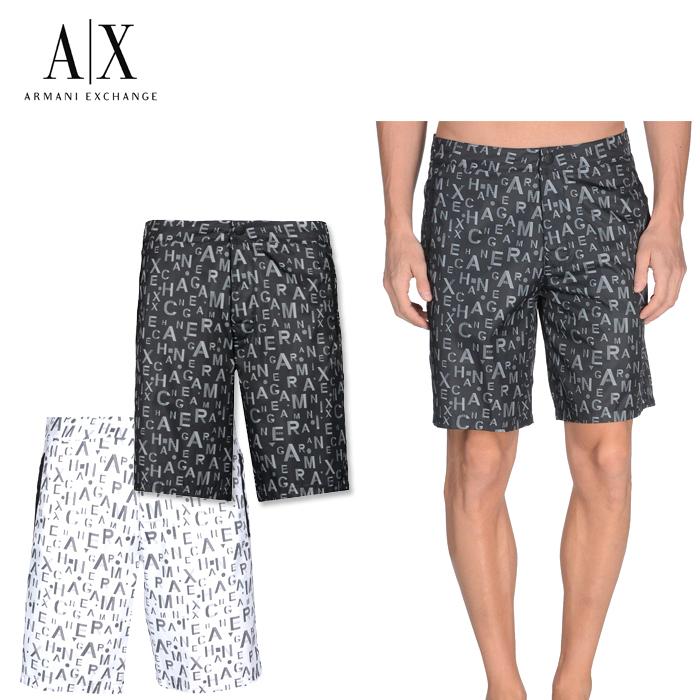 アメリカ正規入荷【A/X】アルマーニ・エクスチェンジ・メンズARMANI EXCHANGE 水着 正規 ax606 ホワイト ブラック