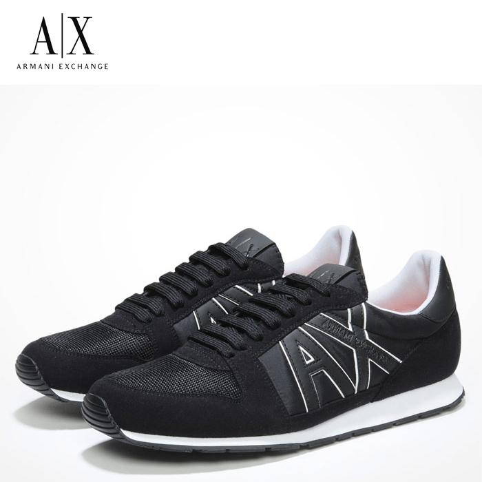 A/X アルマーニ エクスチェンジ シューズ ARMANI EXCHANGE カジュアル 靴 ax635 ブラック アメリカ正規入荷