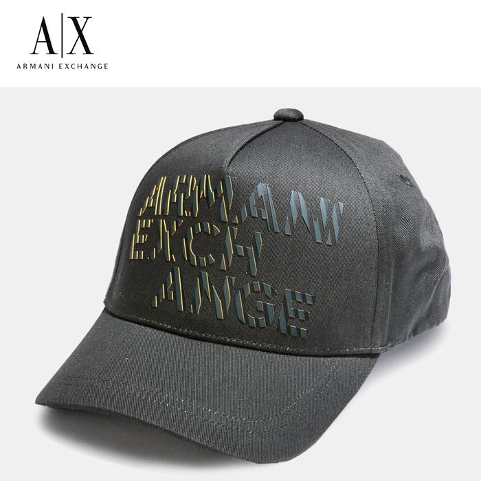 【A/X】アルマーニ・エクスチェンジ・ユニセックスARMANI EXCHANGE 正規キャップ ハット 帽子ax629 ブラック