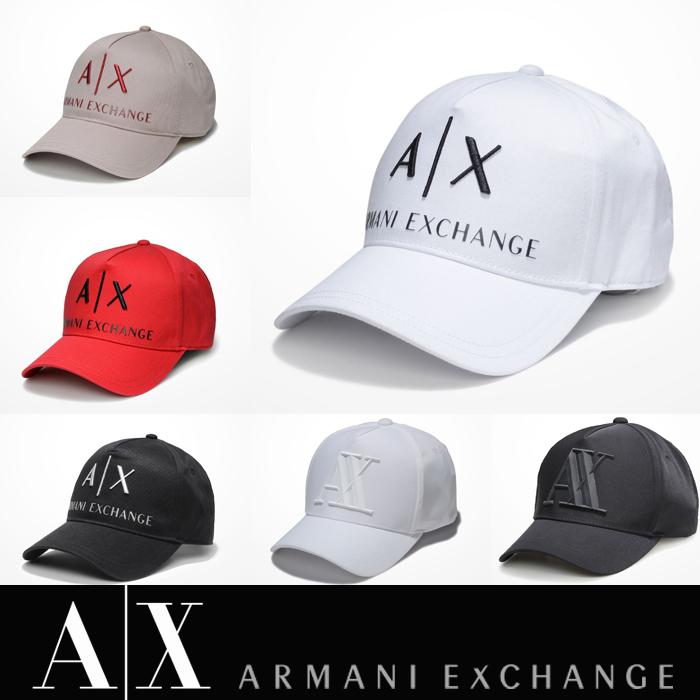 アメリカ正規入荷【A/X】アルマーニ・エクスチェンジ・ユニセックスARMANI EXCHANGE 正規キャップ ハット 帽子ax472 ホワイト ブラック