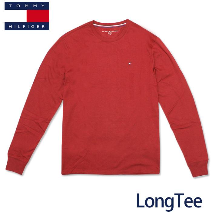 トミー ロンT TOMMY HILFIGER メンズ トミーヒルフィガー ロングTシャツ t508 バーガンディ