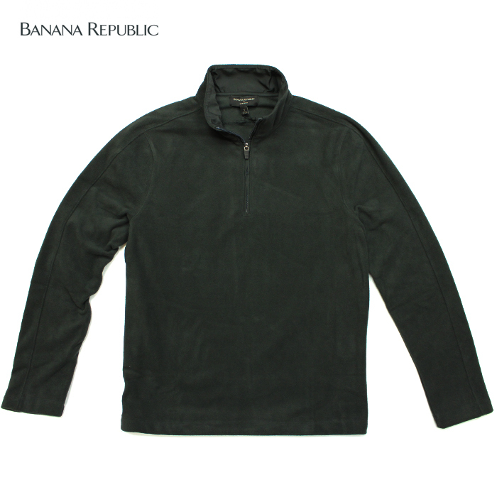 BANANA REPUBLIC バナナリパブリックメンズ フリース素材 ハイネック タートルネック 長袖 ba341 チャコール