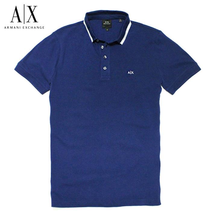 アルマーニエクスチェンジ メンズ 半袖 ポロシャツ A/X ARMANI EXCHANGE USA正規品 ax682 ブルー