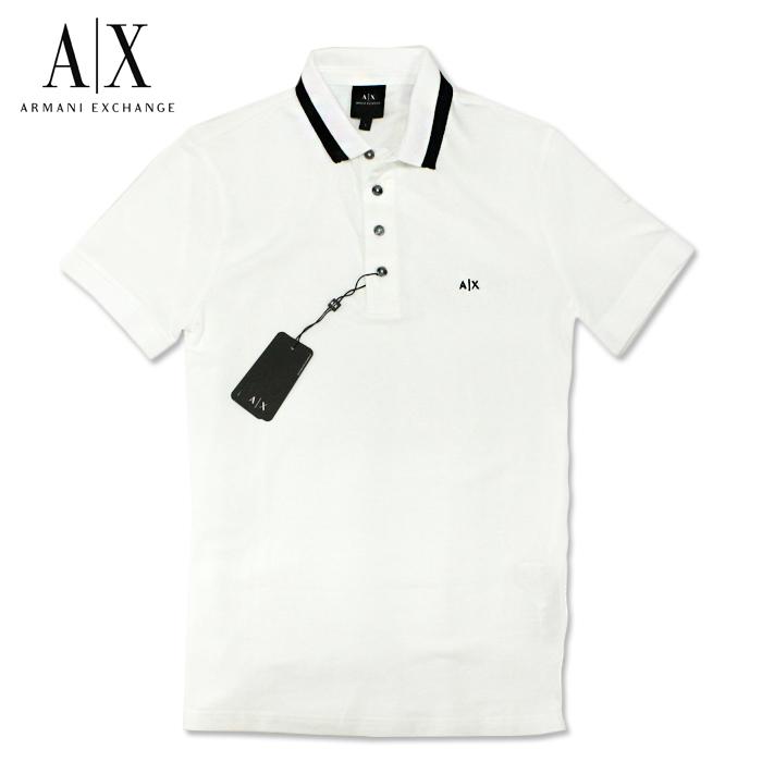 アルマーニエクスチェンジ メンズ 半袖 ポロシャツ A/X ARMANI EXCHANGE USA正規品 ax684 ホワイト
